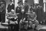 Winston Churchill, Franklin D. Roosevelt and Joseph Stalin in Yalta Conference