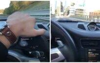 """Papiktino didžiulį greitį Vilniaus gatvėje pasiekusio vairuotojo filmukas: automobilis, kuriam """"viskas galima""""?"""