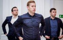 Paulius Leščinskas (priekyje), Audrius Šalna (kairėje) ir Edgaras Petruškevičius