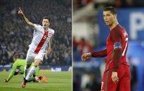Robertas Lewandowskis ir Cristianas Ronaldo