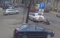 Появилось видео ДТП, в котором пострадал бывший мэр Каунаса Шустаускас