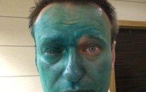 Maskvoje apipaišytas opozicionieriaus Aleksėjaus Navalno veidas