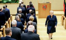 After the speach at the first session of the new Seimas of 2016-2020