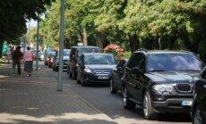 Automobilių spūstys Palangoje
