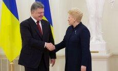 Petro Porošenka, Dalia Grybauskaitė