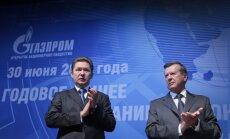 Gazprom valdybos pirmininkas Viktoras Zubkovas ir generalinis direktorius Aleksejus Milleris