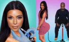 Provokuojančios Kardashian grožio transformacijos