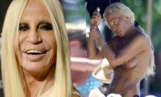 61 metų Donatella Versace pasirodė su bikiniu