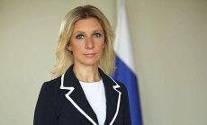 Rusijos URM Spaudos ir informacijos departamento vadovė Marija Zacharova