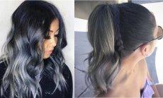 Pilkas ombre - madingiausias rudens sezono plaukų dažymas