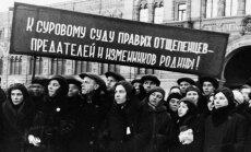 """""""Pasipiktinę proletarai"""" reikalauja: """"Į rūstų teismą dešiniuosius atskalūnus – tėvynės išdavikus!"""""""