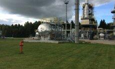 A gas storage facility in Inčukalns, Latvia