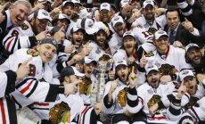 Blackhawks ledo ritulininkai iškovojo Stenlio taurę