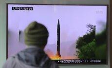 Šiaurės Korėja atliko dar vieną nesėkmingą balistinės raketos bandymą