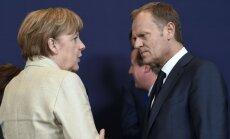 Angela Merkel, Donaldas Tuskas