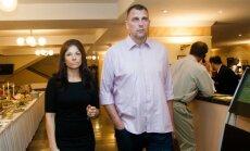 Gintaras Einikis su žmona