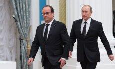 F. Hollande'as, V. Putinas