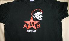 Algirdo Brazausko atvaizdas ant marškinėlių
