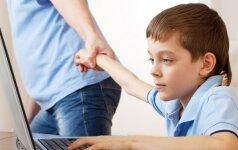 Kokie vaikai dažniausiai įninka į kompiuterį