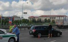 В Вильнюсе столкнулись Opel Astra и грузовик