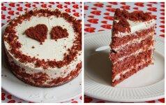 Valentino dienai – raudonojo aksomo tortas