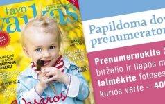 Naujasis žurnalo numeris - apie džiaugsmą būti tėvais