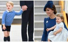 Pirmosios nuotraukos: karališkoji šeima su vaikais atvyksta į Kanadą (FOTO)