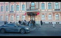 Питерские нацболы сожгли флаги на офисе Газпрома