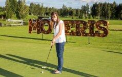 Moterims surengtoje golfo dienoje – ir pramogos, ir dovanos