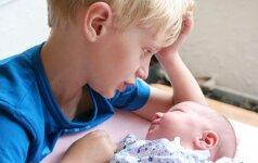 Kaip paruošti vaiką sesės ar brolio gimimui, kad tai nesukeltų per didelio streso