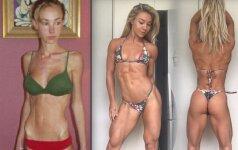 Neįtikėtini pokyčiai: vos 26 kilogramus svėrusi mergina šiandien stulbina savo figūra