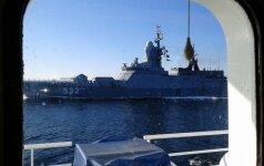 Rusijos karinis laivas netoli Gotlando salos