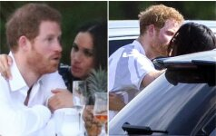 Paparaciams pavyko pagauti besibučiuojančius princą Harry ir jo merginą
