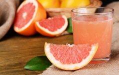 Kiek cukraus slepiasi šviežiai spaustose sultyse ir trintų vaisių kokteiliuose
