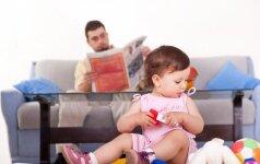 Nuo gimimo su tėčiais bendraujantys vaikai auga drąsesni