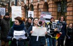 В Вильнюсе прошел марш в защиту женщин и детей