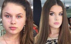 25 merginos, kurių be makiažo nepažintum
