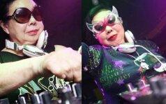 Išgirsk, ką naktiniuose klubuose groja 86 m. techno močiutė