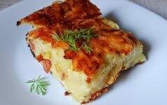 Bulvių plokštainis su sūriu
