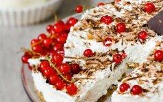 Avižinių sausainių, žemės riešutų ir varškės tortas