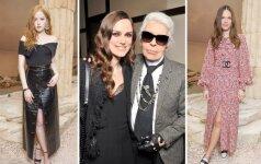 """Kaip rengiasi pirmoje eilėje mados namų """"Chanel"""" pristatymą stebinčios viešnios (FOTO)"""