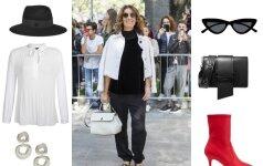 Klasikiniai drabužiai gali būti derinami tiek su elegantiškais rūbais, tiek su naujausiomis tendencijomis