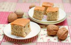 Saldžioji nuodėmė – pyragas su riešutais