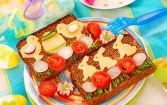 Linksmieji sumuštiniai: papuošti stalui ir nevalgiems vaikams