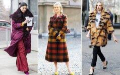 Stilingas ir šiltas paltas yra geriausias šaltojo sezono palydovas