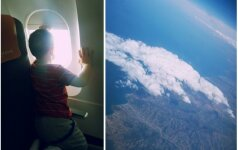 Ką su mažu vaiku veikti lėktuve