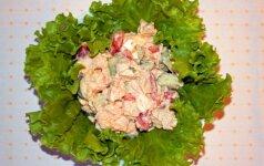 Kalakutienos salotos, kurias mėgsta visi