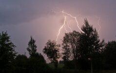 Žaibas Lietuvoje. V. Gulbickij nuotr.