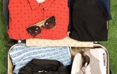 Praktiški stilistės patarimai, kaip pasiruošti kelionei