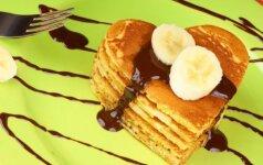 Bananiniai blynai: greitai ir skaniai